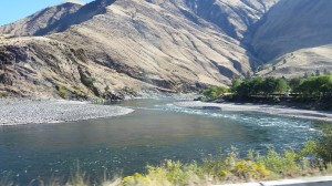 The Salmon River wove its way through Hells Canyon.