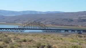 The bridge over the Columbia River at Vantage, WA.