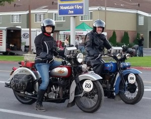 Chris and Pat ready to ride together leaving Springfield -- Utah bound.