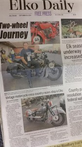 The local press in Springfield covered the Cannonball Run.