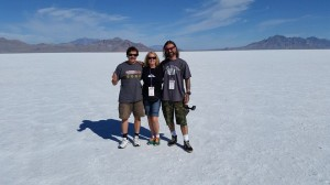 We are the Team Vino Crew - Ziggy, Lisa, and Chris