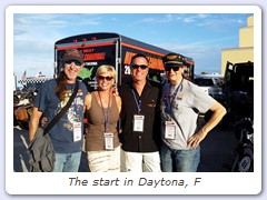 The start in Daytona, F