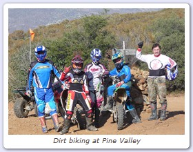 Dirt biking at Pine Valley